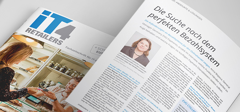 """Die Suche nach dem perfekten Bezahlsystem"" - Interview mit Anna Bejaoui, General Manager Germany EVO Payments (IT4Retail)"